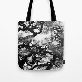 Tree of Japan (black and white edit) Tote Bag