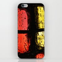 stained glass iPhone & iPod Skins featuring Stained glass by Pirmin Nohr