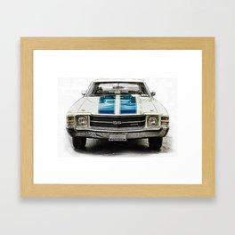 CLASSIC CAR LOVE Framed Art Print