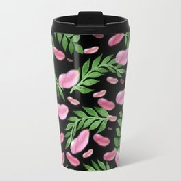 flying leaves in pink Travel Mug