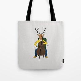 Deer playing cello Tote Bag