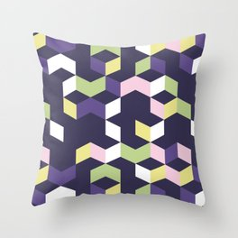 Floral Fantasies Chevron Throw Pillow