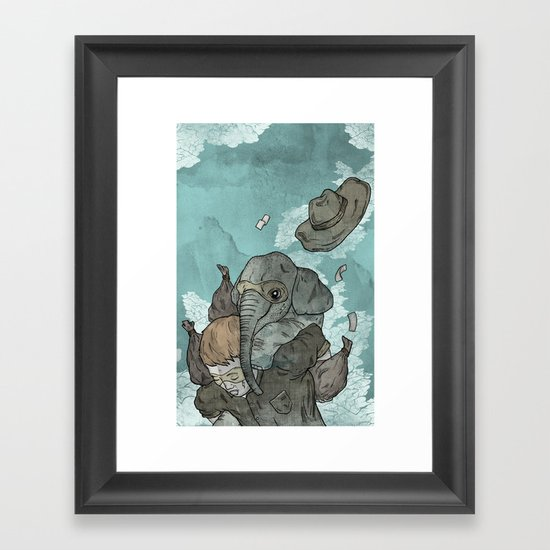 A dream about robbing a bank together Framed Art Print