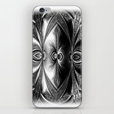 Abstract.White+Black Peacock. iPhone & iPod Skin