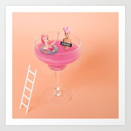 Margarita tub Art Print
