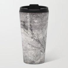 Black and White Grass Shadows on Stone Metal Travel Mug