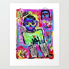 Love Is Blue Digital  Drawing Art Print