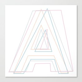 Intertwined Strength and Elegance of the Letter A Canvas Print