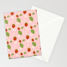 Strawberry Plant Stationery Cards