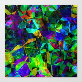 Neon prismatic techno shapes Canvas Print