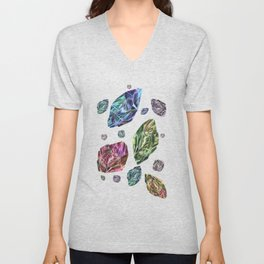 Asteroids in Space Unisex V-Neck