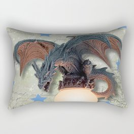 Dragon with Stars Rectangular Pillow