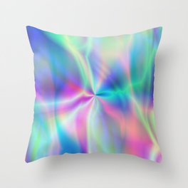 A product with beautiful blue and white smoke like a windmill! Throw Pillow