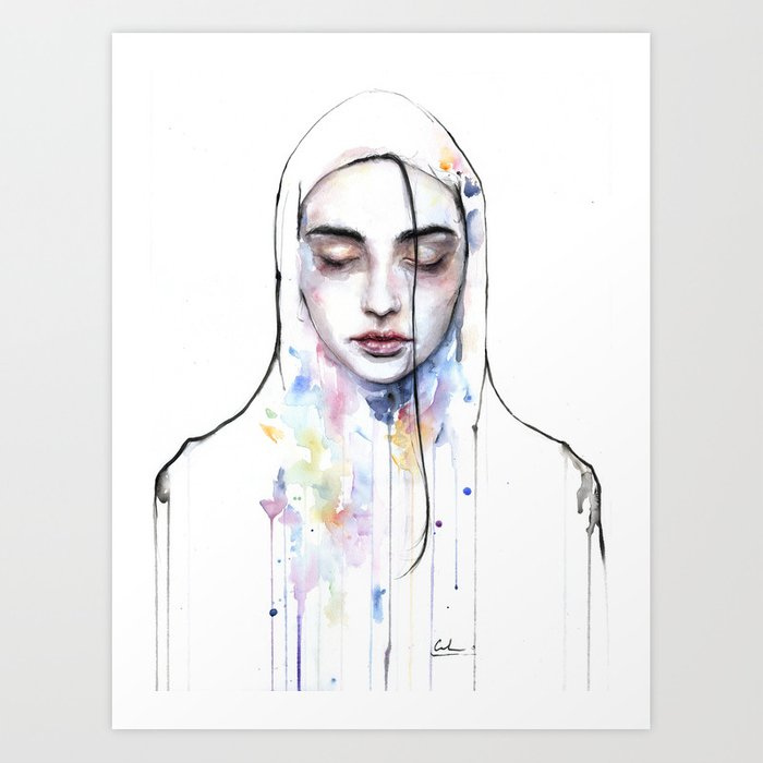 Discover the motif HABIBI (NUDITY) by Agnes Cecile as a print at TOPPOSTER