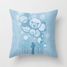 Don't Burst the Bubble Throw Pillow