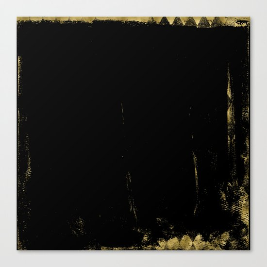 Black and Gold grunge modern abstract backround I Canvas Print