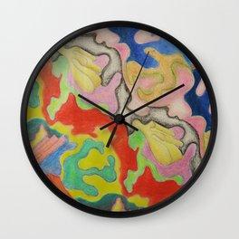 Deeper Corals Wall Clock