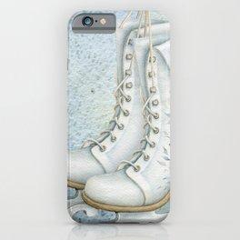 Christmas vintage ice skating #1 iPhone Case