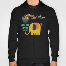 Elephant with giant flower Hoody