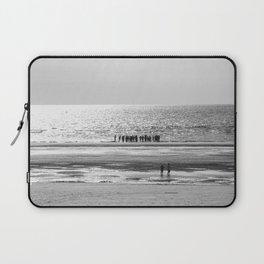 Beach black white 5 Laptop Sleeve