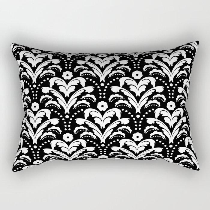 Art Deco Damask Classic Rectangular Pillow