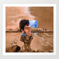 springsteen Art Prints featuring Springsteen, King of the Beach by kenmeyerjr