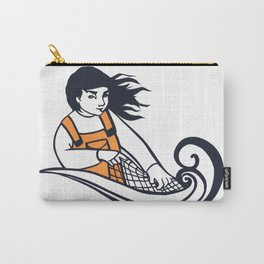 Cut Paper Fisherwoman Carry-All Pouch