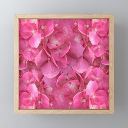 Dark Pink Flowers Framed Mini Art Print