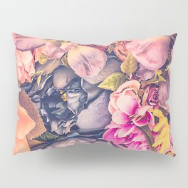 Beautiful background with different flowers Pillow Sham