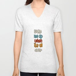 Laugh More, Worry Less be Awesome Unisex V-Neck
