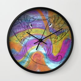 AleMivElephant Wall Clock