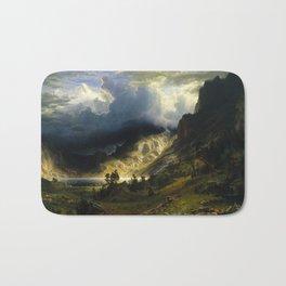 Albert Bierstadt - A Storm in the Rocky Mountains, Mt. Rosalie Bath Mat