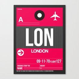 LON London Luggage Tag 2 Canvas Print