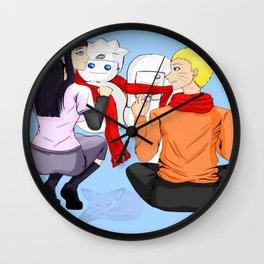 Winter - NaruHina Wall Clock