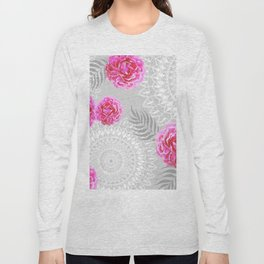 Mandalas and peonies n.1 Long Sleeve T-shirt