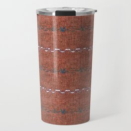 Texture Brown Grey White Aztec Inspired Stripes Travel Mug