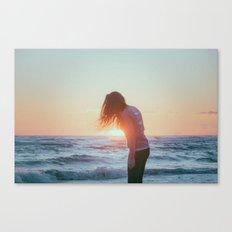 sunset dance Canvas Print