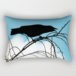 Cawing Crow Rectangular Pillow