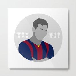 Messi Metal Print