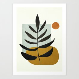 Soft Abstract Large Leaf Art Print