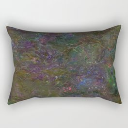 Purple Green Marble Rectangular Pillow