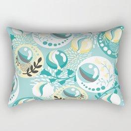 Light Teal Marble Balls Rectangular Pillow