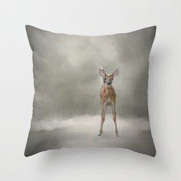 Stand Strong Little Fawn - Deer - Wildlife Throw Pillow