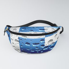 Flag of Greece - Raindrops Fanny Pack