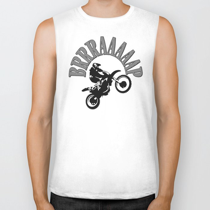 Brrraaaaap Checkered Flag Moto Language Biker Tank