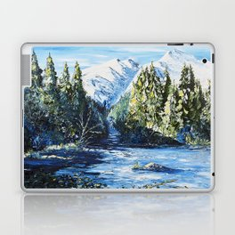 Landscape - The blue glacier - by LiliFlore Laptop & iPad Skin