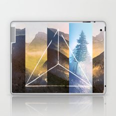 Mountains and Forest - Geometric Nature Smoke and Ash Tree Laptop & iPad Skin