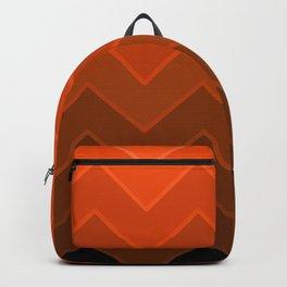 Gradient Orange Zig-Zags Backpack
