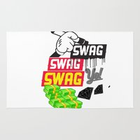 swag Area & Throw Rugs featuring SWAG by Mr. Magenta