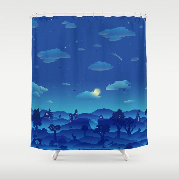 Fairytale Dreamscape Shower Curtain